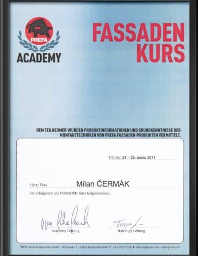 Certifikát Prefa