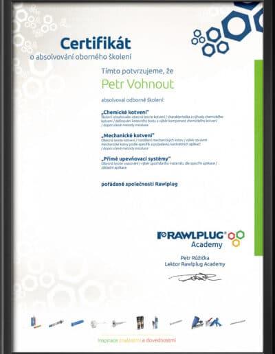 Certifikát Rawlplug