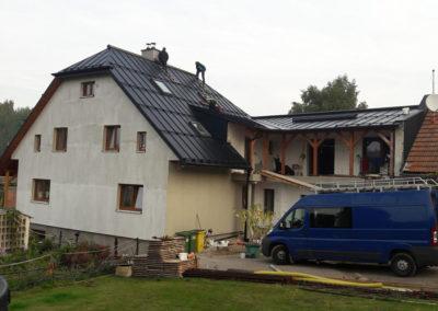 Plechové střechy - ukázka realizací Čemistav